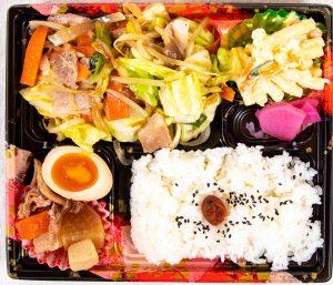 肉野菜炒め弁当 590円